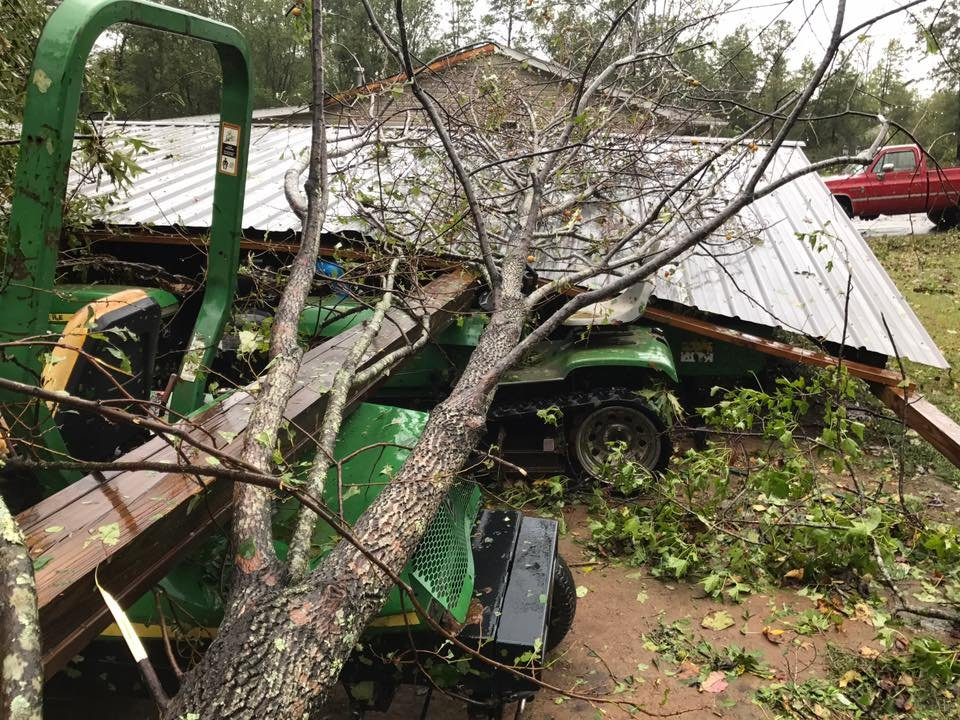 Storm damage in Pickens County. (Credit: Josh Tinsley)