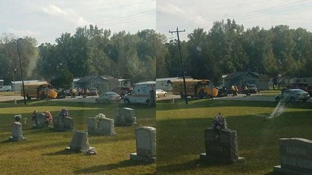 Scene of bus crash. (Credit: Cody R.)
