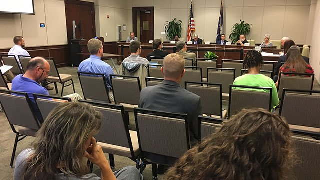 Greer City Council meeting. (10/10/17 FOX Carolina)