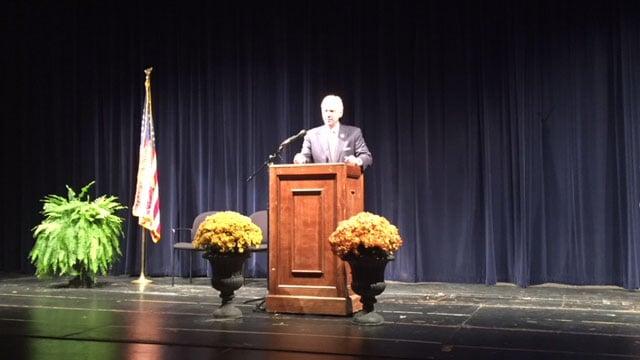 S.C. Governor Henry McMaster in Fountain Inn. (10/10/17 FOX Carolina)