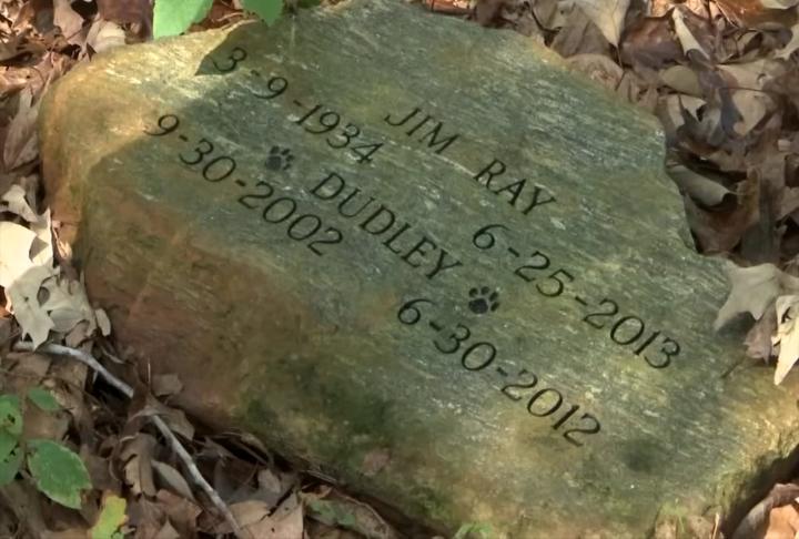 Gravestone at Ramsey Creek Preserve (October 11, 2017/FOX Carolina)