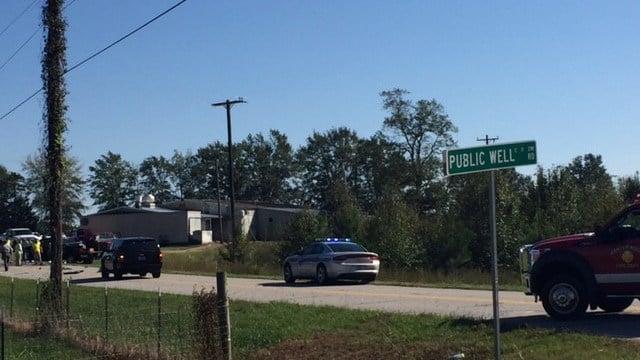 Scene of fatal Belton crash (FOX Carolina/10/12/17)
