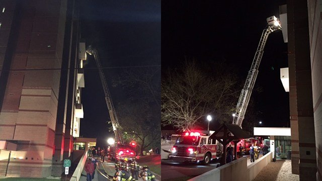 Fire at Aston Park Tower Apartments. (Source: Asheville FD)