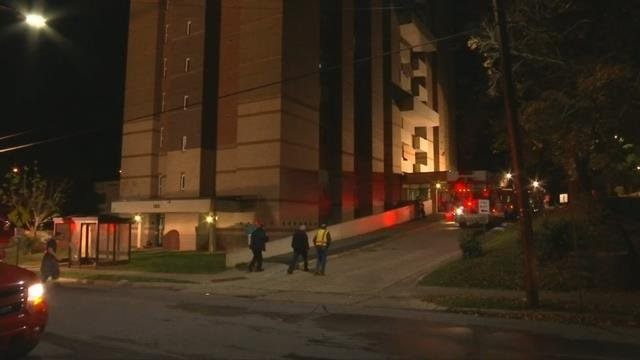 Fire crews respond to scene of high rise apartment fire in Asheville