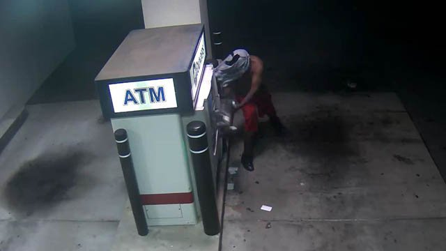 Suspect in ATM vandalism (Source: Spartanburg PD)