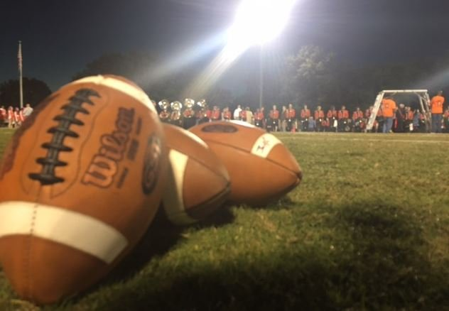 Footballs on the field at Mauldin High School (FOX Carolina/ October 20, 2017)