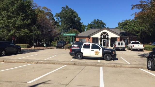 Deputies on scene at Arthur State Bank (Oct. 20, 2017/FOX Carolina)