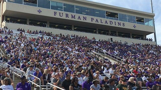 Furman vs Mercer game on Oct 21. (10/21/17 FOX Carolina)