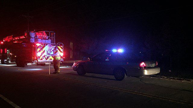 Scene of fatal crash on Fairview Road. (10/22/17 FOX Carolina)