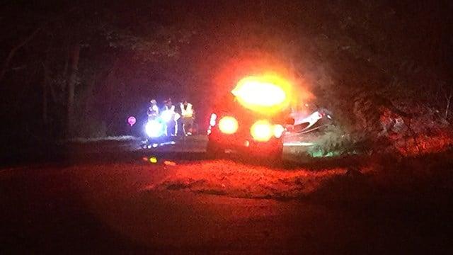 Scene of collision on State Park Road. (10/22/17 FOX Carolina)