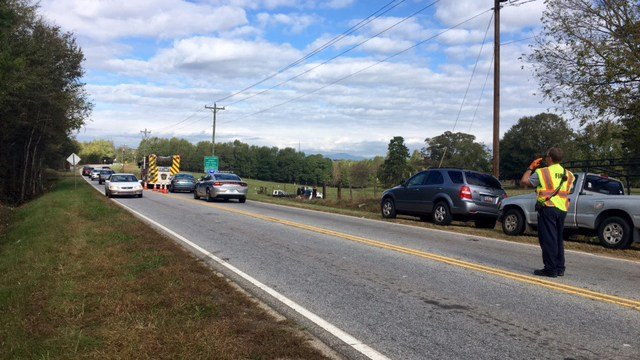 Scene of collision on Locust Hill Rd. (10/22/17 FOX Carolina)