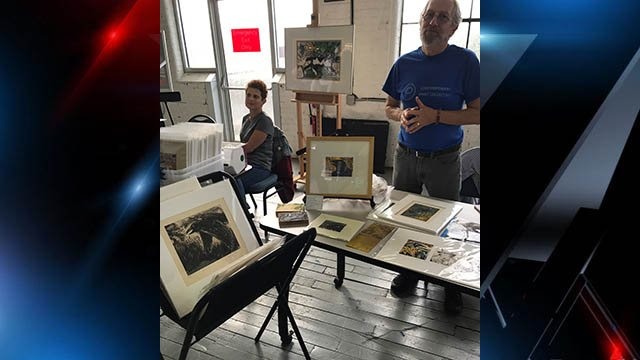 Artists Steven A. Chapp and Katya Cohen showcase work at annual Contemporary Print Collective Print Fair in Greenville. (FOX Carolina/ 10/22/17)