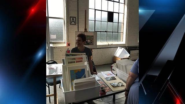 Katya Cohen showcases work at Contemporary Print Collective Print Fair (FOX Carolina/ 10/22/17)