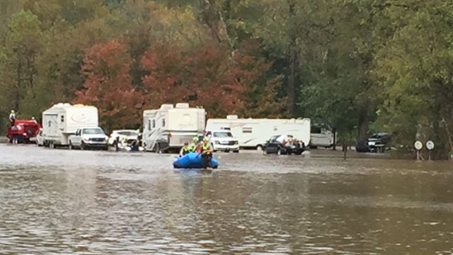 Pickens County swiftwater rescue (Source: Pickens Emergency Management)