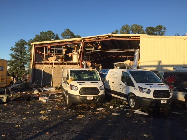 Damage along I-85 business (Oct. 23, 2017/FOX Carolina)