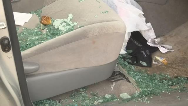 Damage in truck on I-85 Business (Oct. 23, 2017/FOX Carolina)