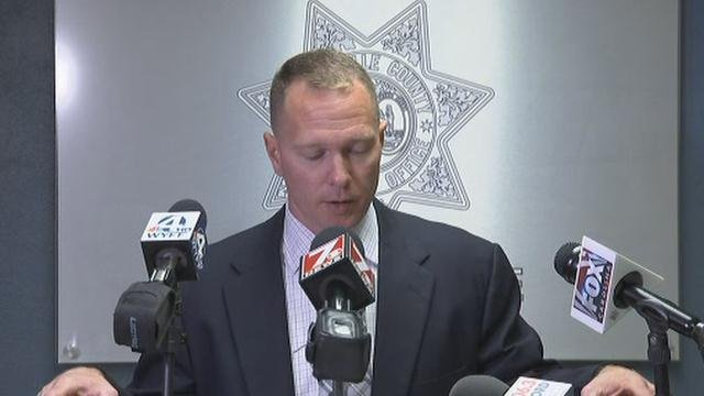 Sheriff Will Lewis gives statement on lawsuit (Oct. 19, 2017/FOX Carolina)