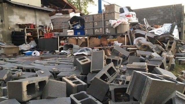 Damage in Honea Path. (10/24/17 FOX Carolina)