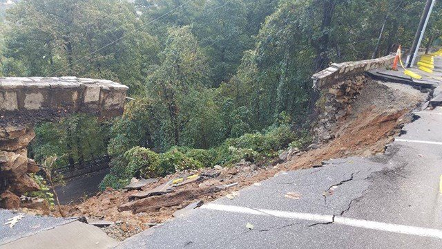 Chimney rock at chimney rock state park closed until further not retaining wall collapse at chimney rock state park credit chimney rock state park publicscrutiny Choice Image