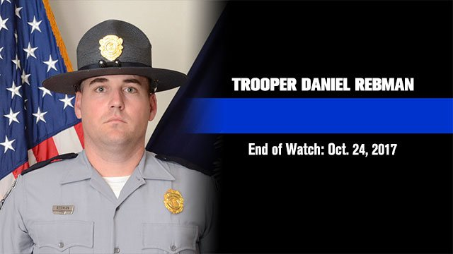 Trooper Daniel Rebman | EOW: Oct. 24, 2017 (file/FOX Carolina)