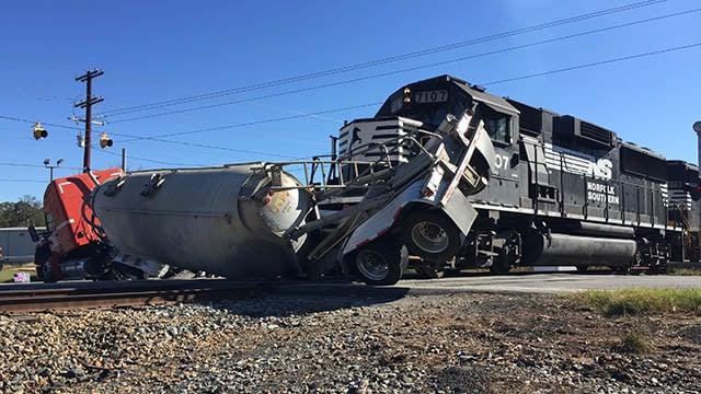 Truck vs. train crash in Seneca (Source: Fire Chief)