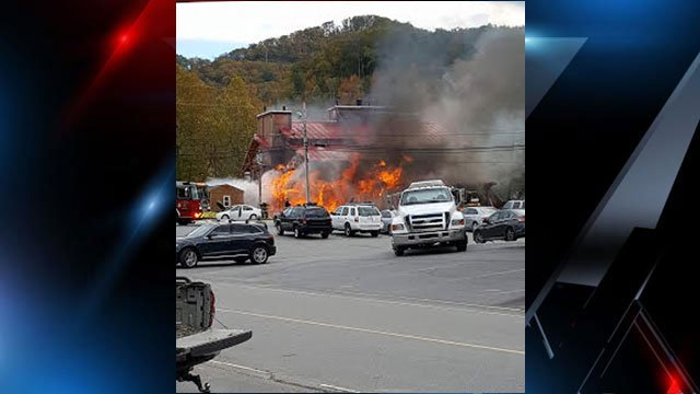 Fire at Black Mountain Stove & Chimney. (Source: Asheville Fire Department).