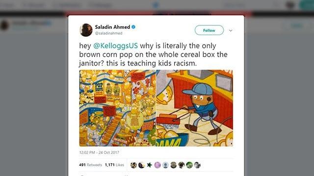 Tweet regarding Corn Pops artwork (Source: Saladin Ahmed/Twitter)
