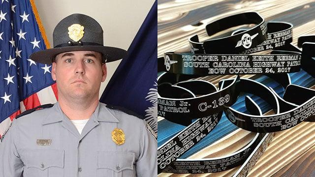 Bracelets in memory of Trooper Rebman (Source: Lazer Werk)