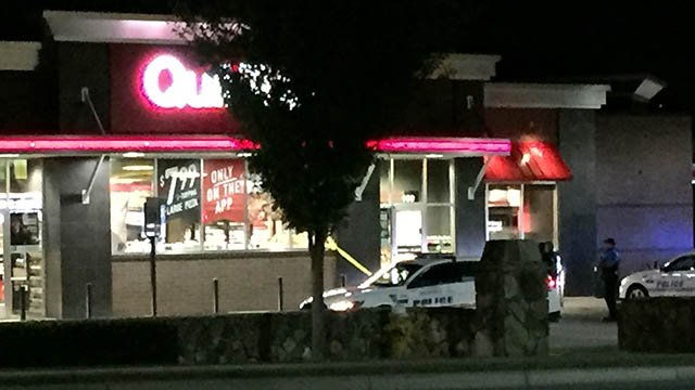 Police investigate shooting at Greenville QuikTrip. (FOX Carolina/ 10/27/17)