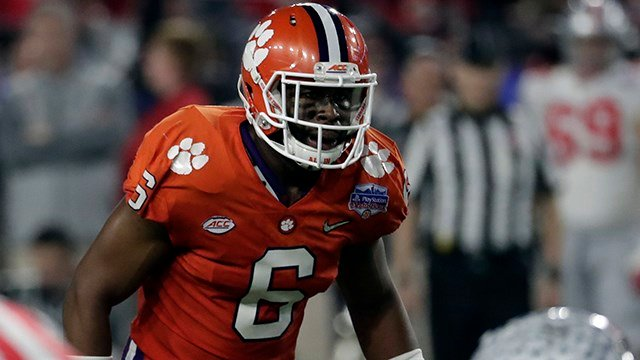 Clemson linebacker Dorian O'Daniel (Source: Associated Press)