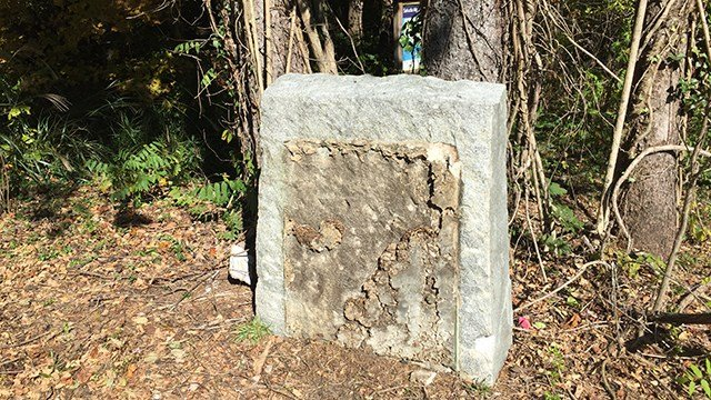 Dixie Highway monument vandalized (Oct. 30, 2017/FOX Carolina)