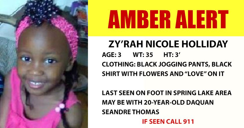Zy'Rah Holliday (Source: National Center for Missing and Exploited Children)