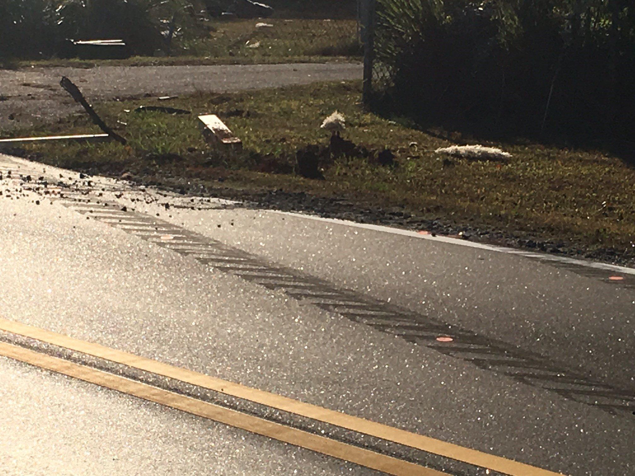 Scene of fatal crash on Valley Falls Road (Oct. 31, 2017/FOX Carolina)