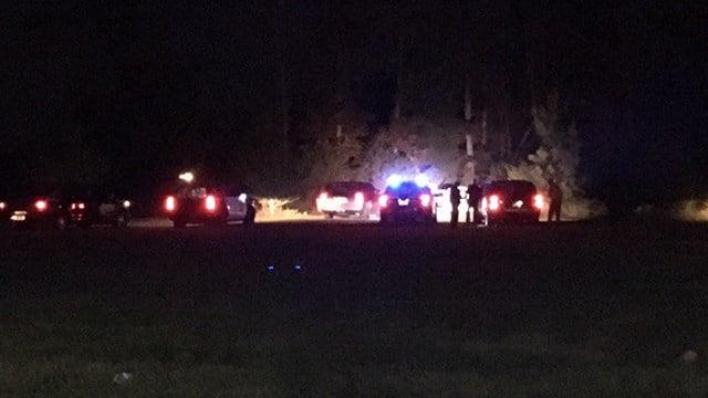 Scene of fatal accident on Tyger Lake Road. (10/31/17 FOX Carolina)