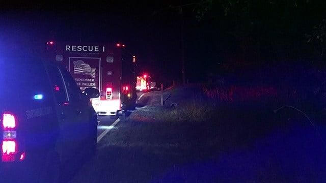 Scene of mobile home fire on Peach Shed Road. (10/31/17 FOX Carolina)