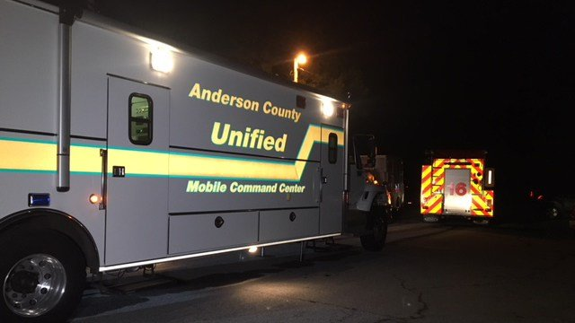 Scene of search for missing man in Anderson Co. (10/31/17 FOX Carolina)