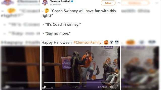 Source: Clemson Football/ Twitter