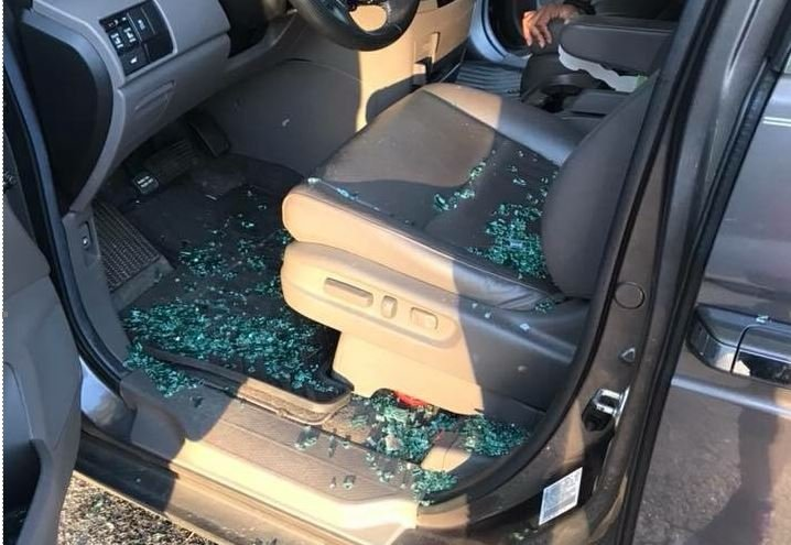 Damage to vehicle at the gym (Provided)