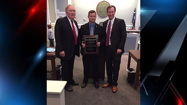 Billy Wilkins (left) and Detective Mike Arflin (center). (Source: FOX Carolina).