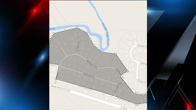 Areas affected by the boil water advisory. (Source: SJWD Water District).