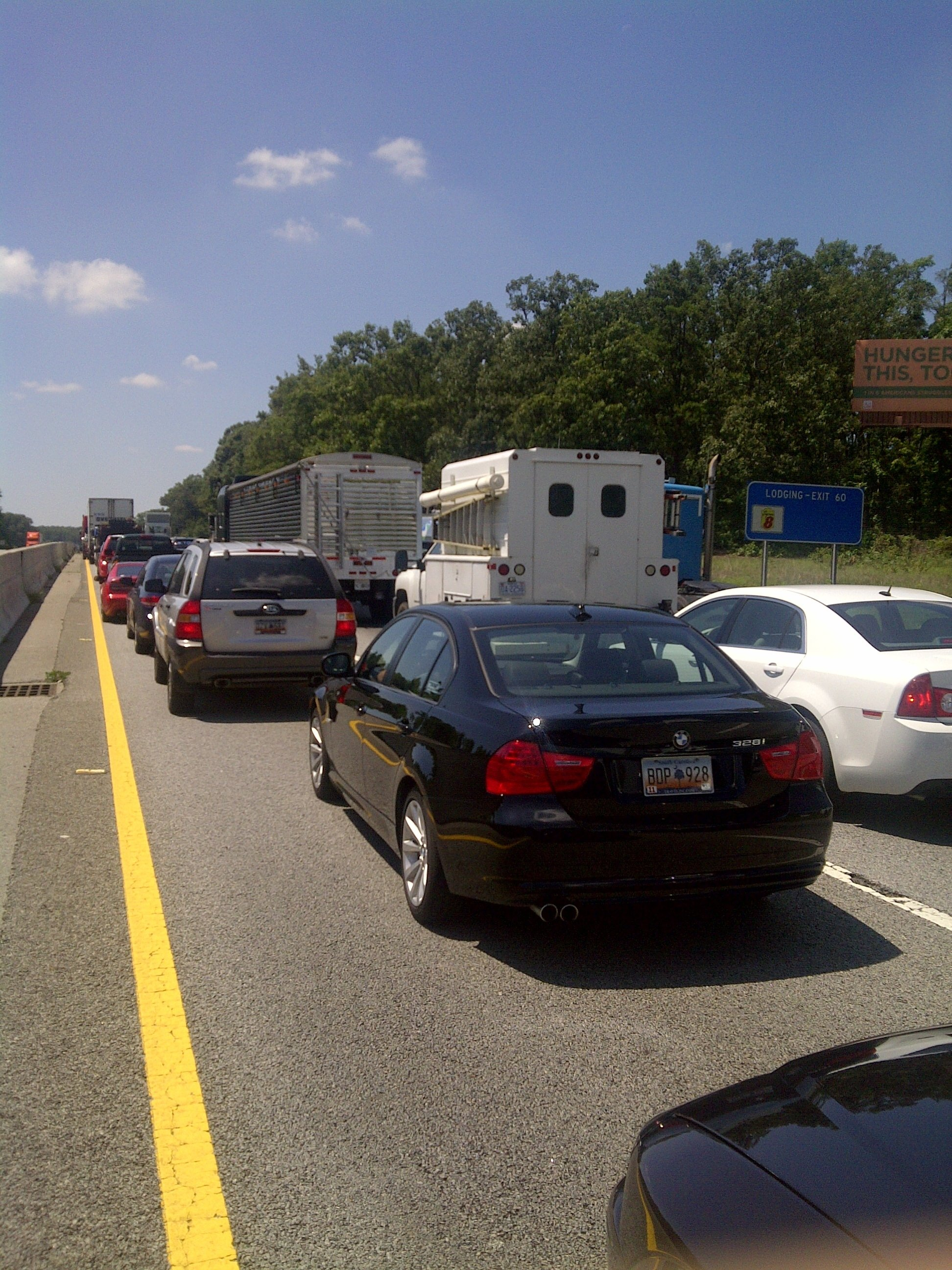 Traffic stopped on I-85