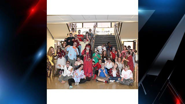 Pickens High Students celebrate Halloween. (Source: Pickens Co. School District).