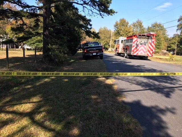 Scene of Lori Drive house fire (Nov. 3, 2017/FOX Carolina)