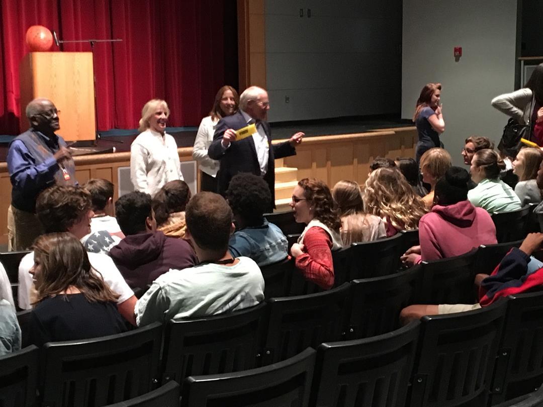 Andrew Aldrin, son of astronaut Buzz Aldrin, delivers Mars maps to Greenville County schools (FOX Carolina:11/3/2017).
