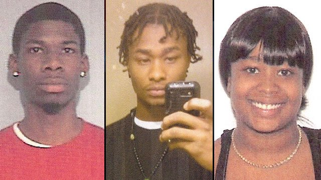 From left to right: Michael Choice, Sama Quinland and Shapon Quinland. (Courtesy: Spartanburg Co. Sheriff's Office)