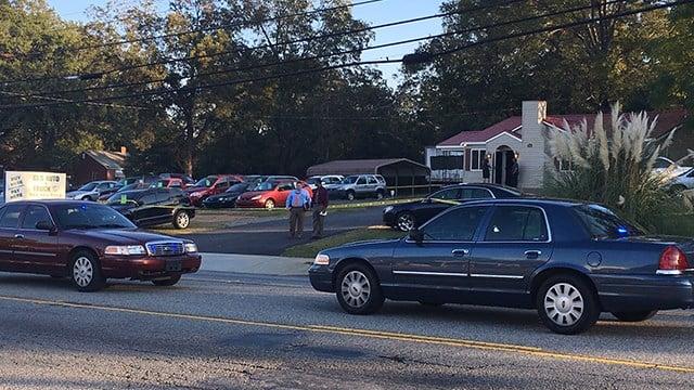 Scene of armed robbery on West Whitner Street (Nov. 3, 2017/FOX Carolina)