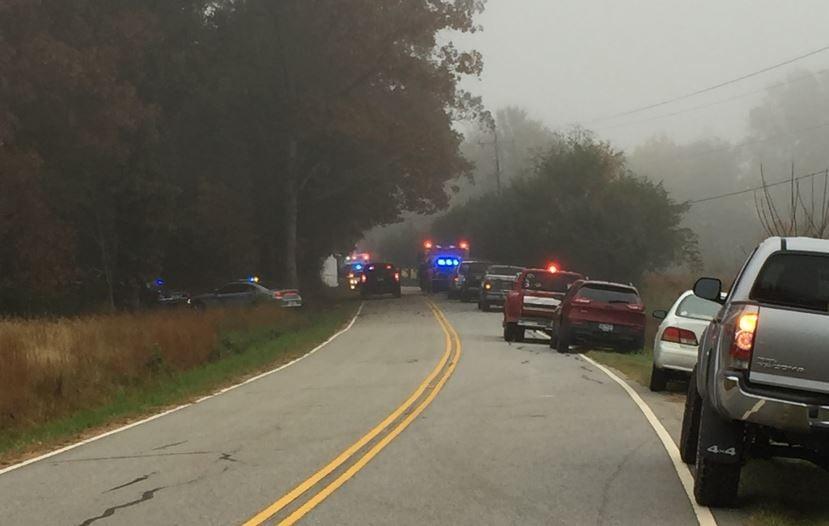 Scene of deadly crash on First Avenue in Starr (FOX Carolina/ Nov. 6, 2017)
