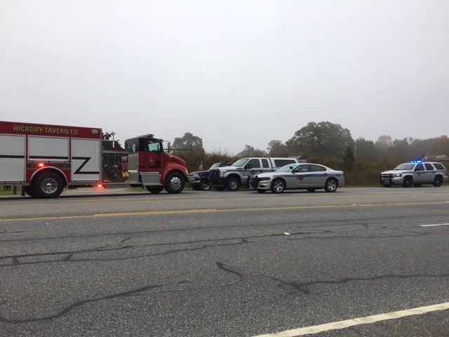 Scene of the crash on US 25 (FOX Carolina/ Nov. 6, 2017)