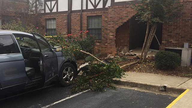 Car into building (Source: Tryon Fire Department)