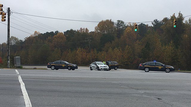 Grandview Drive blocked after crash (Nov. 7, 2017/FOX Carolina)